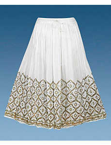 White Sunset Skirt by Pink Apple