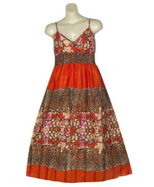 Happy Orange Maxi Dress
