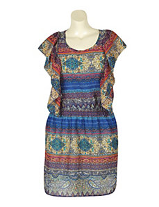Blue Paisley Dress by Pink Apple