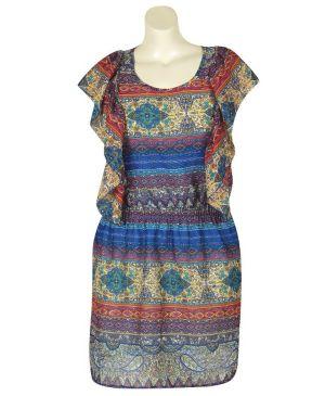 Blue Paisley Dress