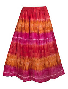 Red Tie Dye Skirt by Pink Apple