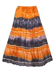 Orange Tie Dye Skirt by Pink Apple