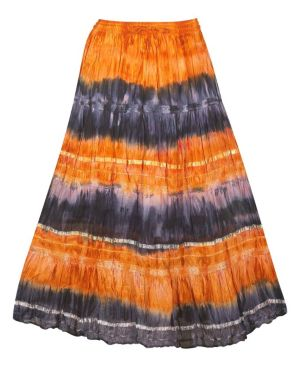 Orange Tie Dye Skirt