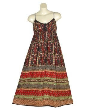 Black Maxi Printed Dress