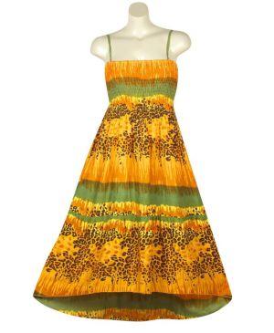 Orange Hi Low Maxi Dress