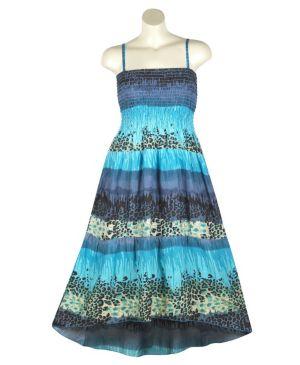 Blue Hi Low Maxi Dress