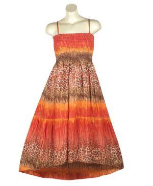 Brown Hi Low Maxi Dress