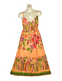 Orange Maxi Dress by Pink Apple