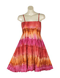 Fuchsia Tie Dye Dress by Pink Apple