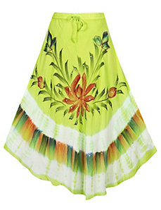 Lime Groovy Maxi Skirt by Pink Apple