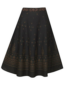 Black Beauty Full Sweep Skirt by Pink Apple
