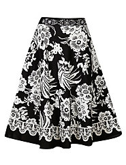 Black & White Full Sweep Skirt