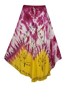 Fuchsia Hippie Maxi Skirt by Pink Apple
