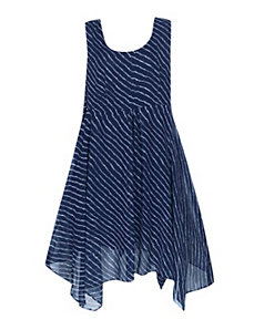 Navy Stripe Maxi Dress by Pink Apple