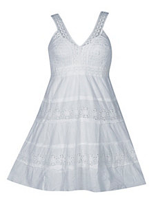 White Way Eyelet Dress by Pink Apple