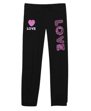 Black Fleece Love Pants