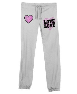 Heather Grey Love and Hearts Pant
