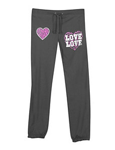 Charcoal Love and Hearts Pant by NaNa