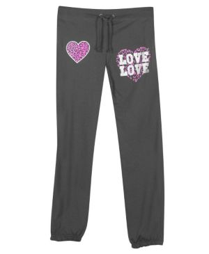 Charcoal Love and Hearts Pant