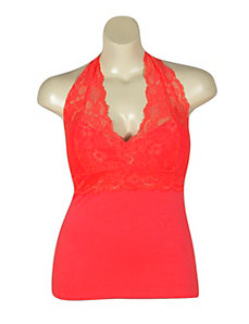 Coral Lace Halter by NaNa