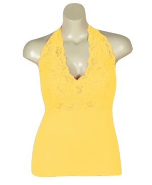 Yellow Lace Halter