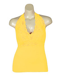 Yellow Lace Halter by NaNa