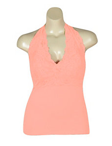 Peach Lace Halter by NaNa