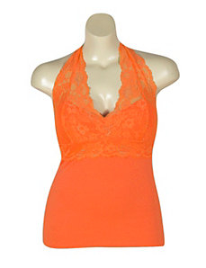 Orange Lace Halter by NaNa