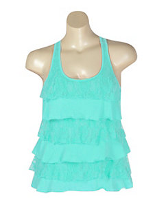 Mint Lace Tiered Top by NaNa