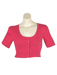 Fuchsia Crop Cardigan by NaNa