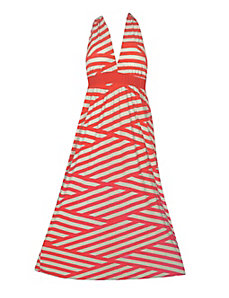 Stripe Halter Maxi Dress by NaNa