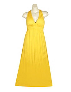 V-Neck Maxi Dress by NaNa