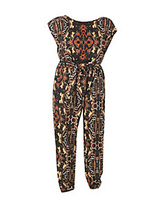 Rust Belted Jumpsuit by Fashion Web