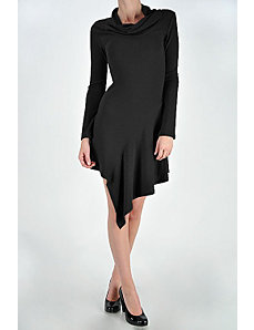 Black Long Sleeve Knit Dress by Fashion Love