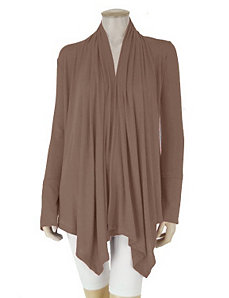 Brown Wrap Top by Fashion Love