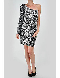 Black And White Leopard Print Dress by Fashion Love