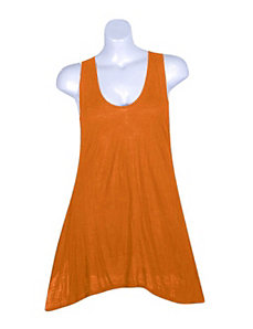 Orange Tank Tunic by Fashion Love
