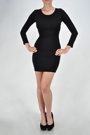 Black Lace Back Dress