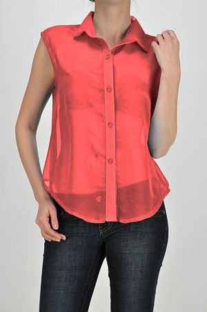 Red Tail Back Top