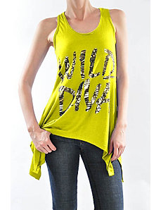 Yellow Wild Diva Top by Fashion Love