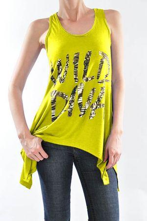 Yellow Wild Diva Top