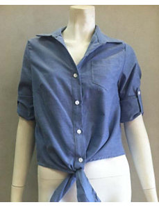 Chic Chambray Shirt by Fashion Love