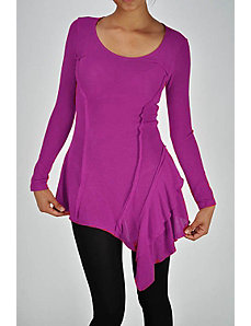 Magenta Long Sleeve Tunic by Fashion Love