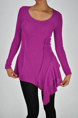 Magenta Long Sleeve Tunic