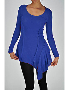 Blue Long Sleeve Tunic by Fashion Love
