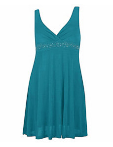 Blue-Green Party Angel Dress by Fashion Love