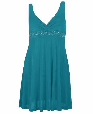 Blue-Green Party Angel Dress