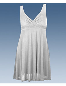 Light Grey Party Angel Dress by Fashion Love
