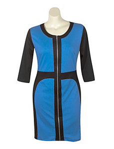 Royal Color Block Dress by Fashion Love