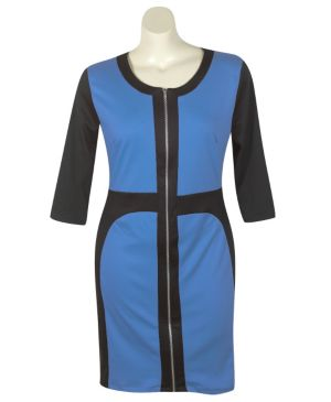 Royal Color Block Dress